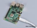 Raspberry Pi micro-HDMI / HDMI adapter kábel, 235mm fehér