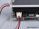 BBC micro:bit plexi shield tápellátás oldalnézet