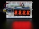 A1911 Quad Alphanumeric Display - Red 0.54