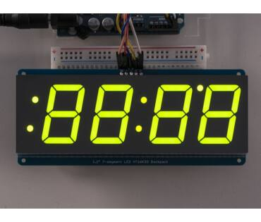 A1268 1.2 inch 4-Digit 7-Segm. Display w/I2C Backpack -Green