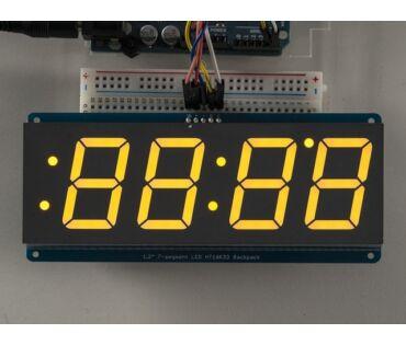 A1269 1.2 inch 4-Digit 7-Segm. Display w/I2C Backpack Yellow