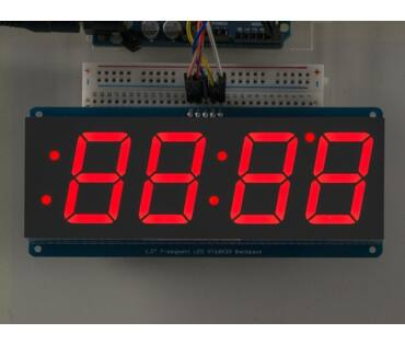 A1270 1.2 inch 4-Digit 7-Segment Red Display w/I2C Backpack