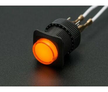 A1441 16mm-es világító nyomógomb - sárga