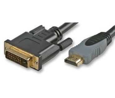 Kábel HDMI-DVI 2m-es, HDMI dugó - DVI dugó