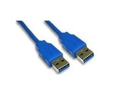 Kábel USB 3.0 A-A 1m-es kék kábel (dugó-dugó)