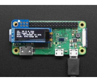 A3527 PiOLED 128x32 Monocrom panel Raspberry Pi-hez
