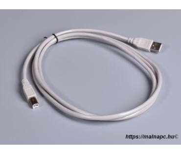Kábel USB 1,8m-es USB 2.0 A-B csatlakozók