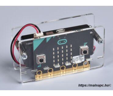 BBC micro:bit plexi shield kapcsolós elemtartóval