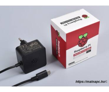 Raspberry Pi 4 Official táp, 15W fekete