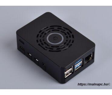 MC Pro kapcsolós fekete ház Pi 4-hez