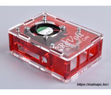 Revolt Pi 4 Cool Box - Red