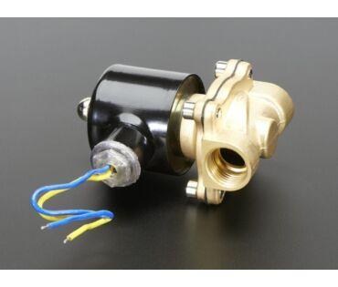 A996 Brass Liquid Solenoid Valve - 12V - 1/2 NPS