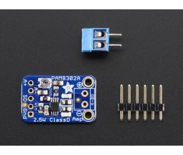 A2130 Adafruit Mono 2.5W Class D Audio Amplifier - PAM8302