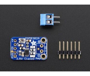 A2130 Adafruit Mono 2.5W Class D Audio Amplifier - PAM8302