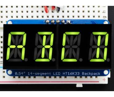 A2159 Quad Alphanumeric Display -Yellow-Green 0.54