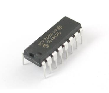 A856 MCP3008-I/P - 10BIT ADC, 2.7V, 8CH, SPI, DIP16