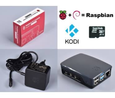Raspberry Pi 4 Official KIT 2GB RAM / NOOBS 32GB - Black