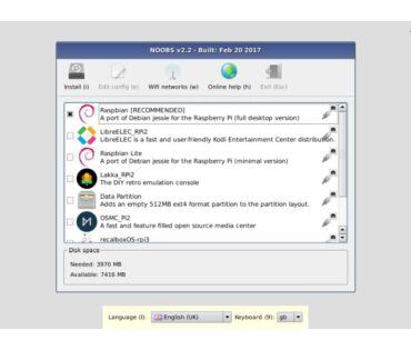 NOOBS 16GB SD Class10 - Raspberry Pi