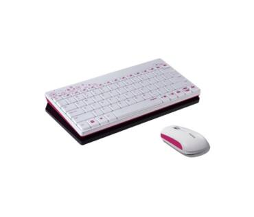 Rapoo 8000 fehér/pink HUN billentyűzet és egér
