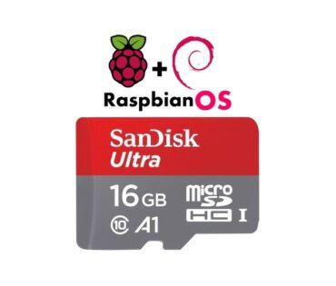 Raspberry Pi Raspbian (Debian Linux) op.rendszer 16GB