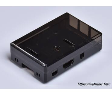 RPi 3/2/B+ füst színű doboz
