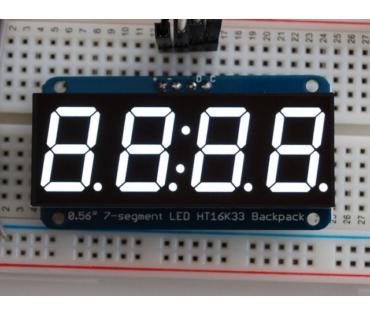 A1002 0.56 inch clock display w/I2C backpack - White
