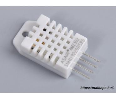 DHT22 hőmérséklet és páratartalom szenzor