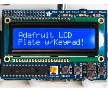 A1115 kék-fehér 16x2 LCD KIT Raspberry Pi -hez