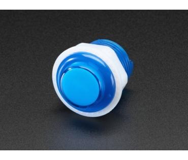 A3432 Mini LED-es nyomógomb - M24 áttetsző kék