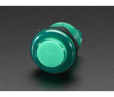 A3487 Mini LED-es nyomógomb - M30 áttetsző zöld
