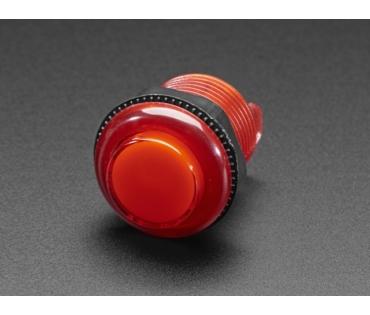 A3489 Mini LED-es nyomógomb - M30 áttetsző piros