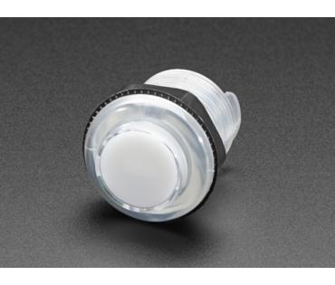 A3491 Mini LED-es nyomógomb - M30 áttetsző fehér