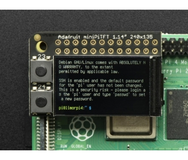 A4393 Mini színes PiTFT 135x240 Raspberry Pi-hez
