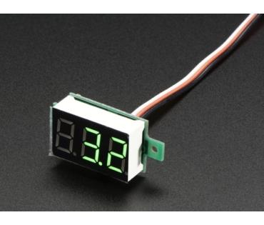 A705 Mini 3-vezetékes feszültségmérő panel 0 - 99.9Vdc