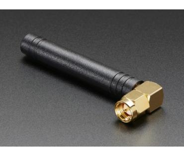A1858 Mini GSM/Cellular Quad-Band Antenna-2dBi SMA Plug 90°