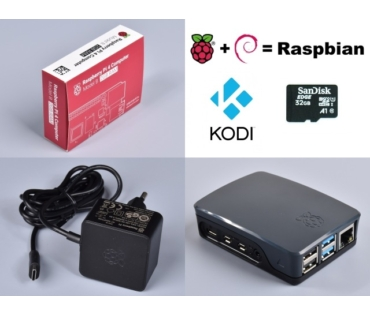 Raspberry Pi 4 Official KIT 4GB RAM / NOOBS 32GB - Black