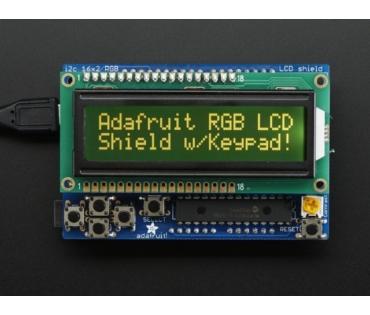 A714 RGB LCD Shield Kit w/ 16x2 Character Display - I2C