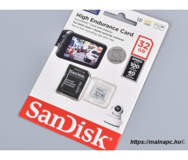 Sandisk 32GB microSD High Endurance kártya