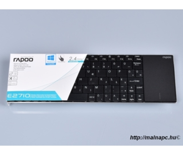 Rapoo E2710 Blade fekete touchpad+HUN bill.
