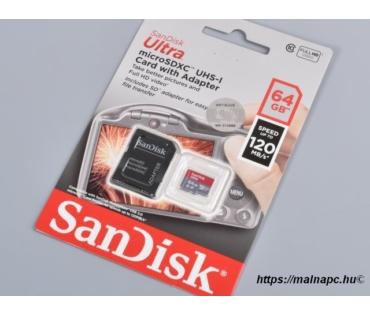 SanDisk 64GB microSD Ultra kártya