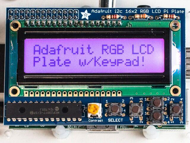 A1109 RGB Pozitív 16x2 LCD KIT Raspberry Pi-hoz