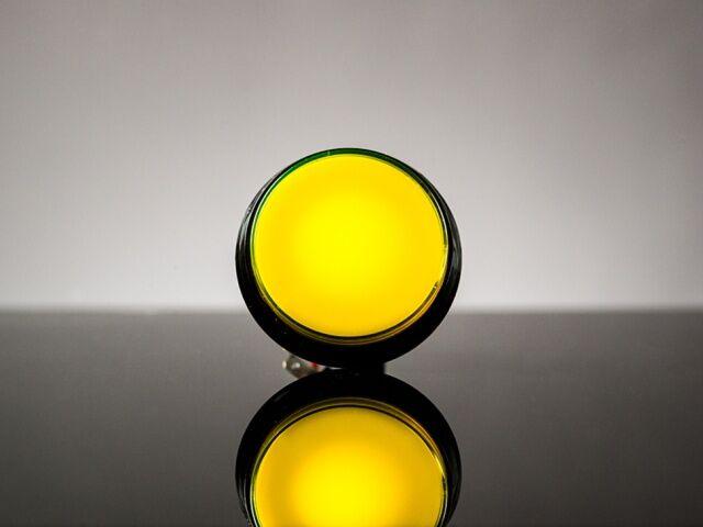 A1191 átmérő 60mm, sárga nagyméretű ledes nyomógomb