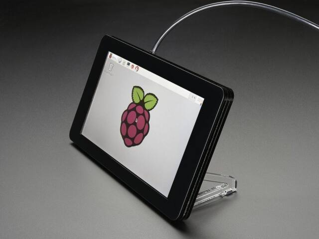 A2033 Pimoroni RPi 7 inch Touchscreen Display Case - Noir