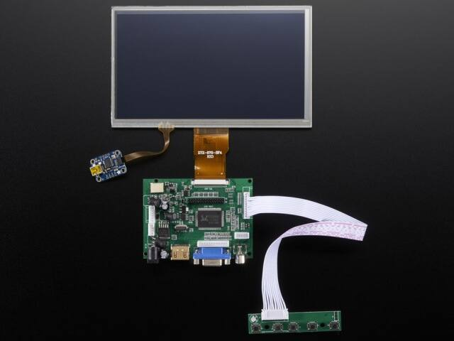 A2395 HDMI 4 Pi 7 inch 1024x600 Touchscreen Display