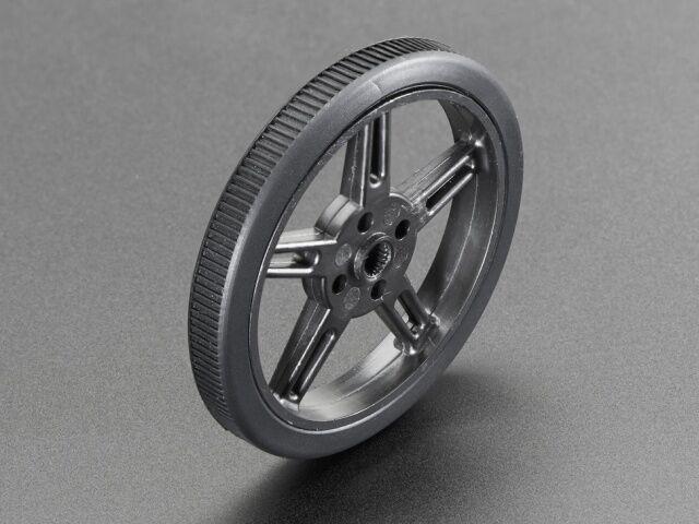 A2744 Fekete küllős kerék FS90R szervomotorhoz d=60mm