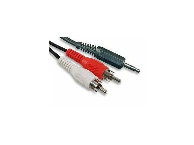 Kábel 3,5-ös sztereó jack - 2xRCA átalakítással