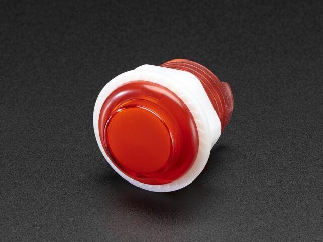A3430 Mini LED-es nyomógomb - M24 áttetsző piros
