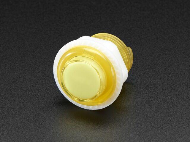 A3431 Mini LED-es nyomógomb - M24 áttetsző sárga