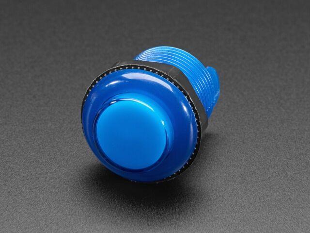 A3490 Mini LED-es nyomógomb - M30 áttetsző kék