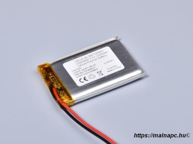 Li-Polymer akku 3.7V 1200mAh 6.0x34x50mm